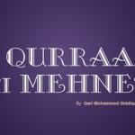 Qurraa ke Mehnet