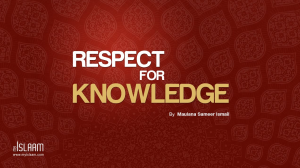 Respect for Knowladge