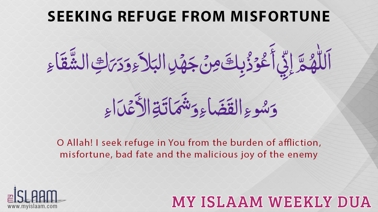 Seeking refuge from misfortune